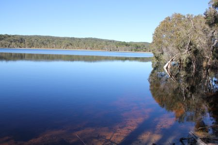 Brown Lake, Stradbroke Island em Queensland